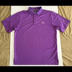 FootJoy FJ Sundance Golf Club Purple Polo Sz Large
